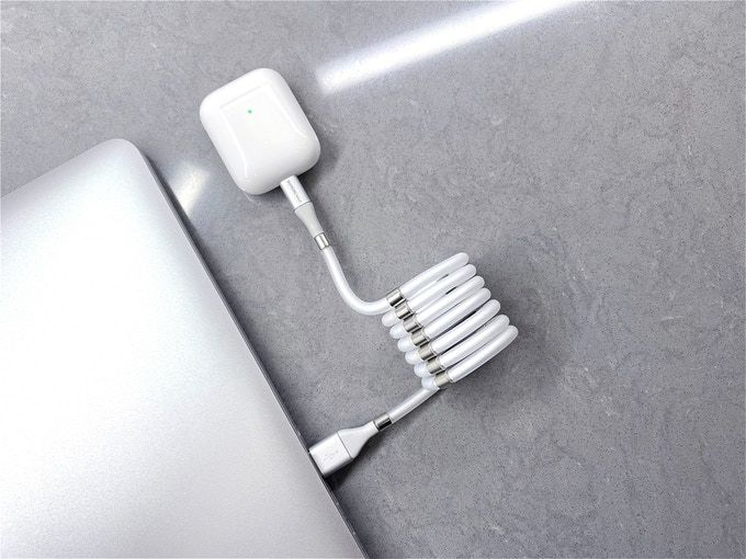 This Magnetic USB Cable Which Supports Faster Charging and Never Gets Tangled In Your Drawers