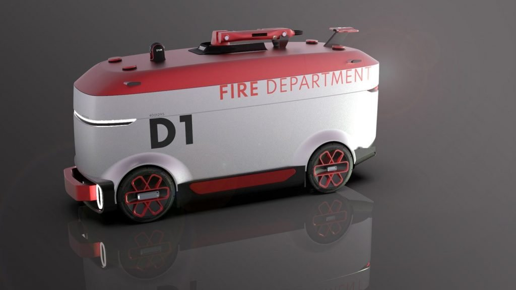 Danielpokorny's Concept Of Fire Fighting Vehicle With A Thermal Camera And An Exploratory Drone Is Evolutionary