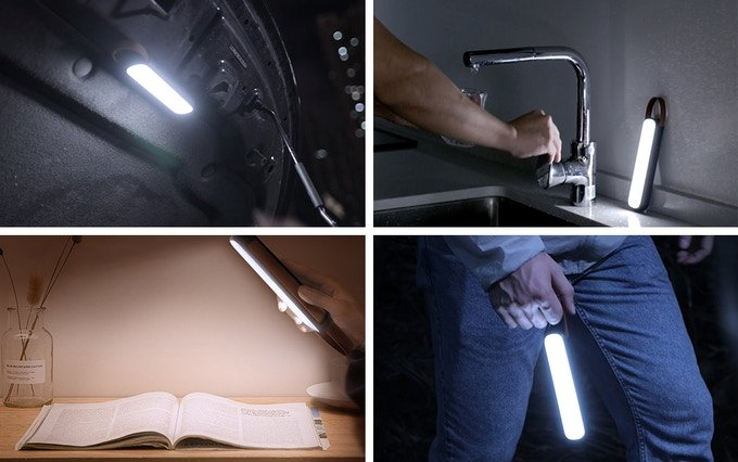 This Tiny Magnetic Emergency LED Light Has Multiple Light Modes And Charges Through Solar Panels